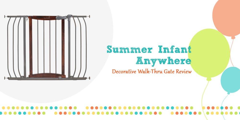 Summer Infant Anywhere Decorative Walk Thru Baby Gate  from babygears.org